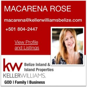 Macarena Rose KW Belize Real Estate Agent
